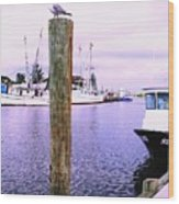 Harbor Master Wood Print