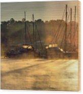 Harbor Mist Wood Print