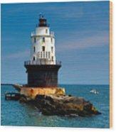 Harbor Of Refuge Delaware Wood Print