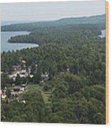 Harbor Panoramic Wood Print
