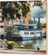 Harbor Park Ferry 5 Wood Print by Lanjee Chee