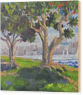 Harbor Park Wood Print