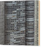 Harbor Point Condominium In Chicago Wood Print