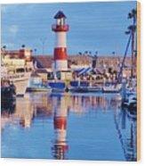 Harbor Reflections Wood Print