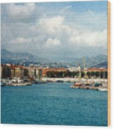 Harbor Scene In Nice France Wood Print