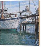 Harbor Scene Key West Wood Print