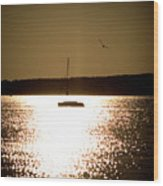 Harbor Silhouette Wood Print