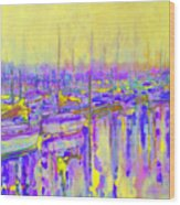 Harbor Sunrise II  Seven Am Wood Print