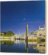 Harbor Town Yacht Basin Light House Hilton Head South Carolina Wood Print