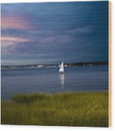 Harborview Sunset Wood Print