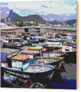 Harbour 01 Wood Print