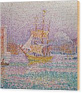 Harbour At Marseilles Wood Print
