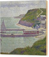 Harbour At Port En Bessin At High Tide Wood Print
