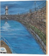 Harbour Light Wood Print