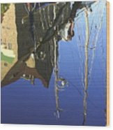 Harbour Reflection Wood Print