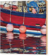 Harbour Reflections 5 - June 2015 Wood Print
