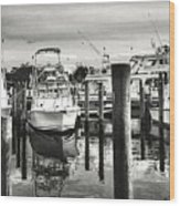 Harbour Scene Wood Print