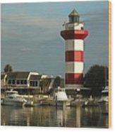 Harbour Town Light Hilton Head South Carolina Wood Print