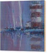 Harbour Town Sail Wood Print