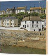 Harbourside Buildings - Porthleven Wood Print