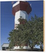 Harbourtown Lighthouse Wood Print