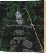Hard As A Rock Wood Print