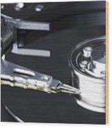 Hard Disk Wood Print