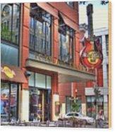 Hard Rock Cafe Denver Wood Print