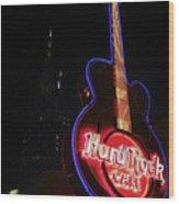 Hard Rock Cafe Wood Print