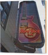 Hard Rock Cafe N Y C Wood Print by Rob Hans
