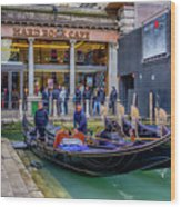 Hard Rock Cafe Venice Gondolas_dsc1294_02282017 Wood Print