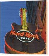 Hard Rock Guitar Detroit Wood Print