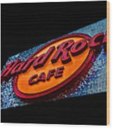 Hard Rock Hollywood Wood Print