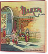 Harem Vintage Fruit Packing Crate Label C. 1920 Wood Print
