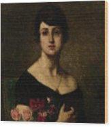 Harlamoff, Alexei 1840-1925 Female Portrait Wood Print