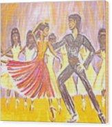 Harlem Dance Troop Wood Print