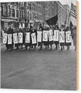 Harlem Protests The Scottsboro Verdict Wood Print by Everett