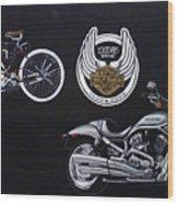 Harley Davidson 105th Anniversary Wood Print
