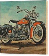 Harley Davidson 1956 Flh Wood Print