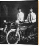 William Harley And Arthur Davidson, 1914 -- The Founders Of Harley Davidson Motorcycles Wood Print
