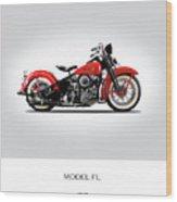 Harley Davidson Model Fl Wood Print