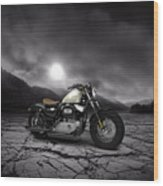 Harley Davidson Sportster Forty Eight 2013 Mountains Wood Print