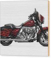 Harley-davidson Street Glide Motorcycle Wood Print