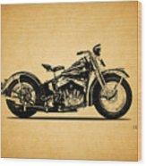 Harley Davidson Ulh 1941 Wood Print