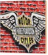 Harley Davidson Wings Wood Print