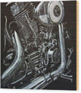 Harley Engine Wood Print