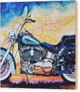 Harley Hog I Wood Print