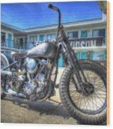 Harley Hotel Wood Print