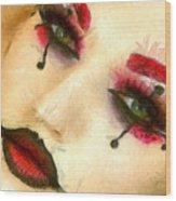 Harley Quinn Face - Da Wood Print