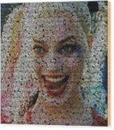 Harley Quinn Quotes Mosaic Wood Print